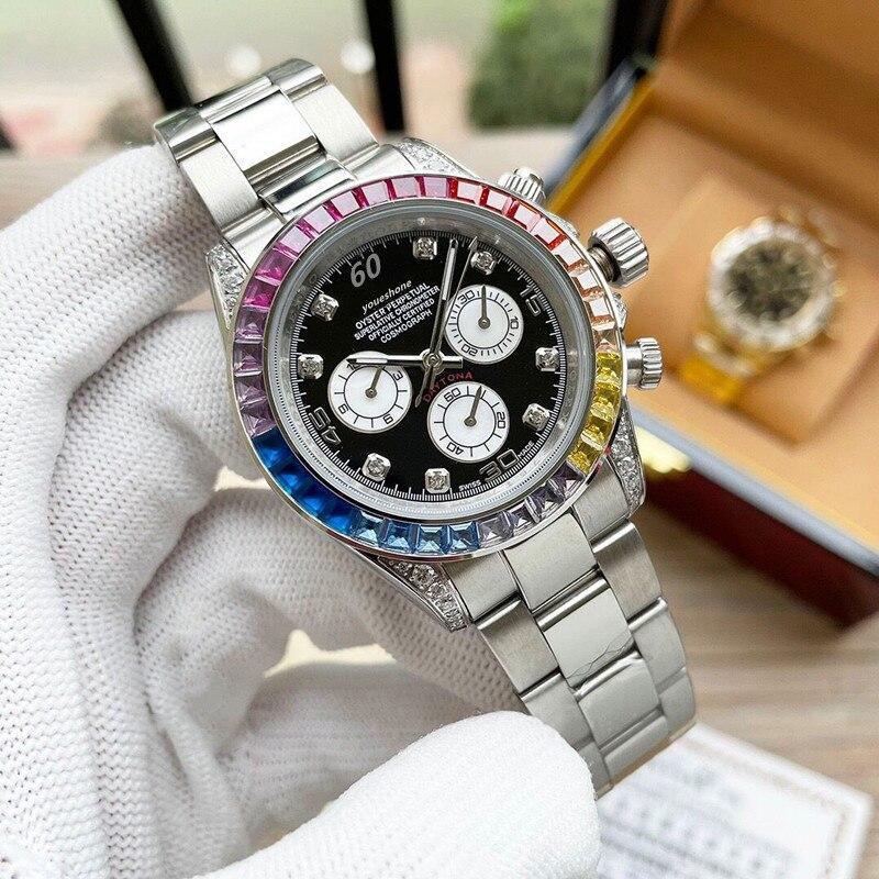 Reloj para hombre, reloj de alta calidad con diamante mecánico automático de lujo superior, reloj impermeable de lujo a la moda enlarge