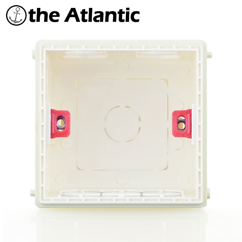 Atlectric Mounting Box Cassette Switch Socket Junction Box Hidden Concealed Internal Mounting Box Type 86 White Red Blue Box