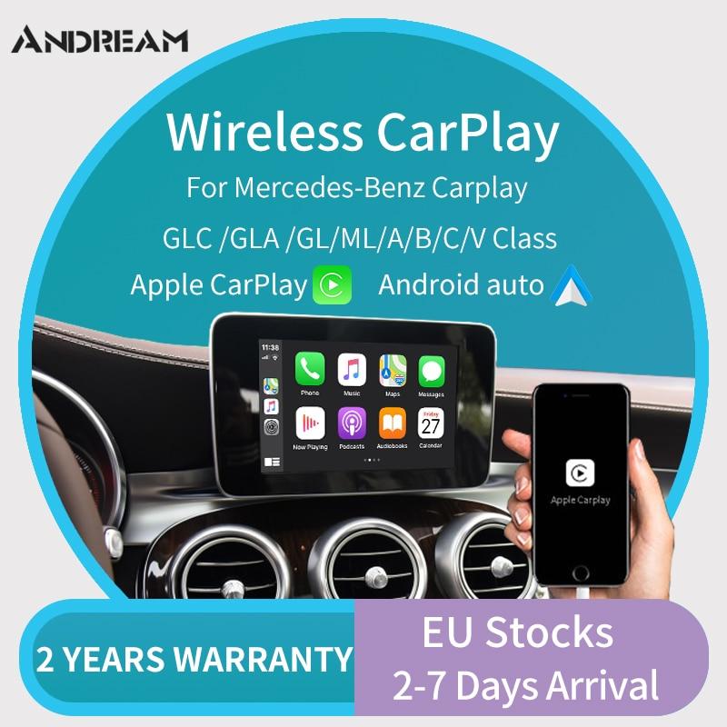 Sem fio apple carplay/andorid carro auto retrofit para mercedes ntg4.5 ntg5.0 2013-2017 upport câmera reversa  maps