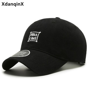 XdanqinX Adjustable Size Letter Embroidery Baseball Cap For Men Women Cotton Couple Hat Casual Fashion Sports Caps Snapback Cap
