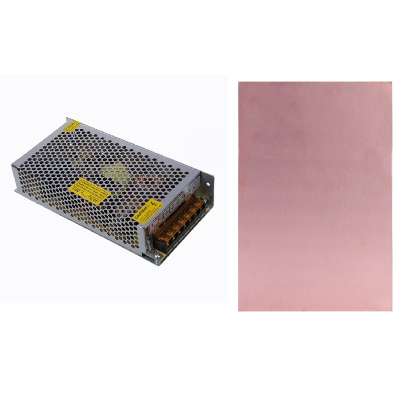 1 قطعة 200 واط التبديل التبديل سائق امدادات الطاقة و 1 قطعة من جانب واحد النحاس تغليف صَفائِحِيّ PCB لوحة دوائر كهربائية