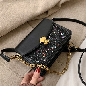 2019 new chain autumn and winter messenger bag female wild ins shoulder small square bag