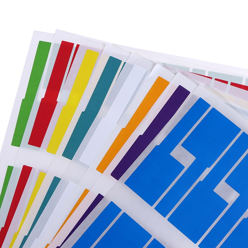 300Pcs Useful Colorful Self-adhesive Cable Labels Waterproof Identification Tags Stickers Marker Tool Fiber Wire Organizers