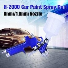Boquilla de 0,8mm/1,0mm H-2000 pistola pulverizadora portátil profesional HVLP herramienta de aerógrafo para pintar el aerografo del coche