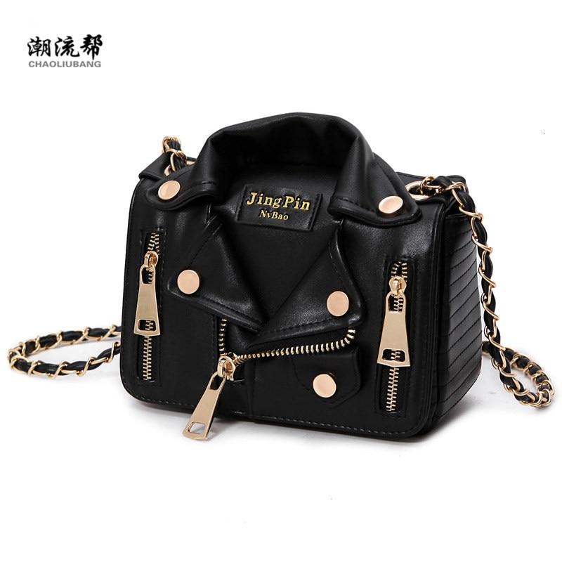 Brand Designer Chain Motorcycle Crossbody For Women Clothing Shoulder Rivet Jacket Bags Leather Luxury Handbags Bolsa Feminina
