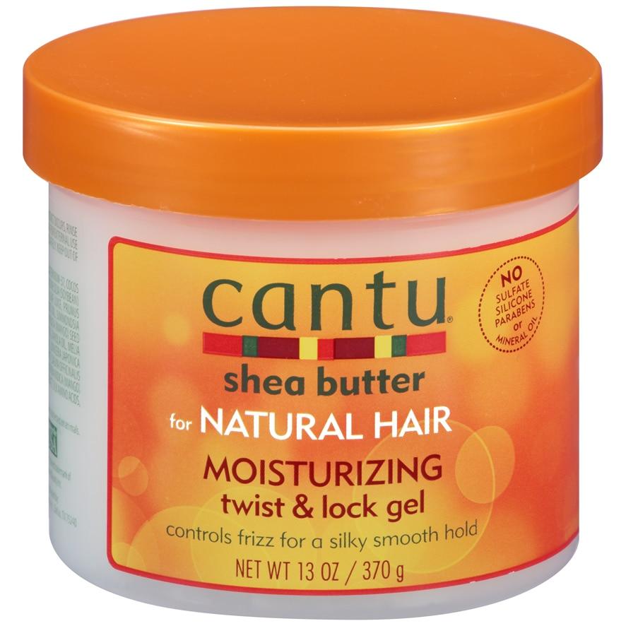 Manteiga de Karité Cantu Natural Cabelo Hidratante Torção & Bloqueio Gel Suave Segurar 13oz 370g 1 Garrafa