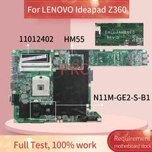 11012402 для LENOVO Ideapad Z360 Материнская плата ноутбука DALL7AMB6E0 HM55 N11M-GE2-S-B1 DDR3 Материнская плата для ноутбука