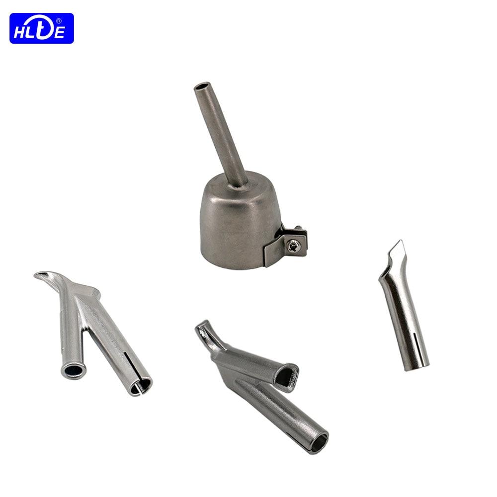 4pcs 5mm Round nozzle+Round & Triangular speed Welding nozzle+Tacking nozzle For 1600W Hot Air gun heat torch plastic welder Tip