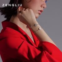 ZENGLIU Designer Chinese Zodiac 925 Silver Couple Bracelet Female Light Luxury Minority Design Birth Year Hand Jewelry