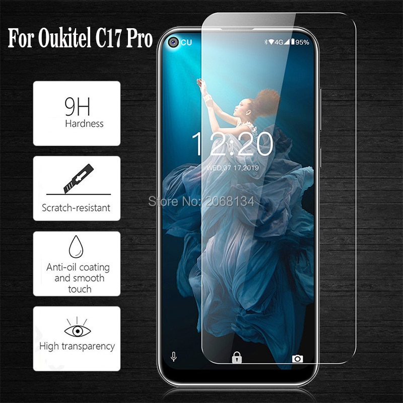 2.5D Tempered Glass For Oukitel C17 Pro Protective Film 9H Front Saver LCD Screen Protector For Ouki
