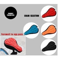 28x16cm 4 colors bicycle saddle 3d soft cycling seat cover mtb mountain bike thickene sponge pad outdoor breathable cushion