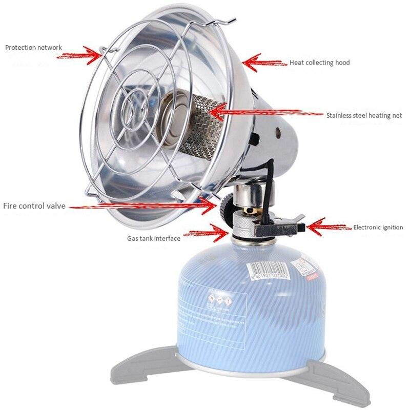 Calentador de Gas portátil, calentador de calefacción para acampar al aire libre, estufa de pesca, caza, calentador de tienda de propano con actualización de soporte