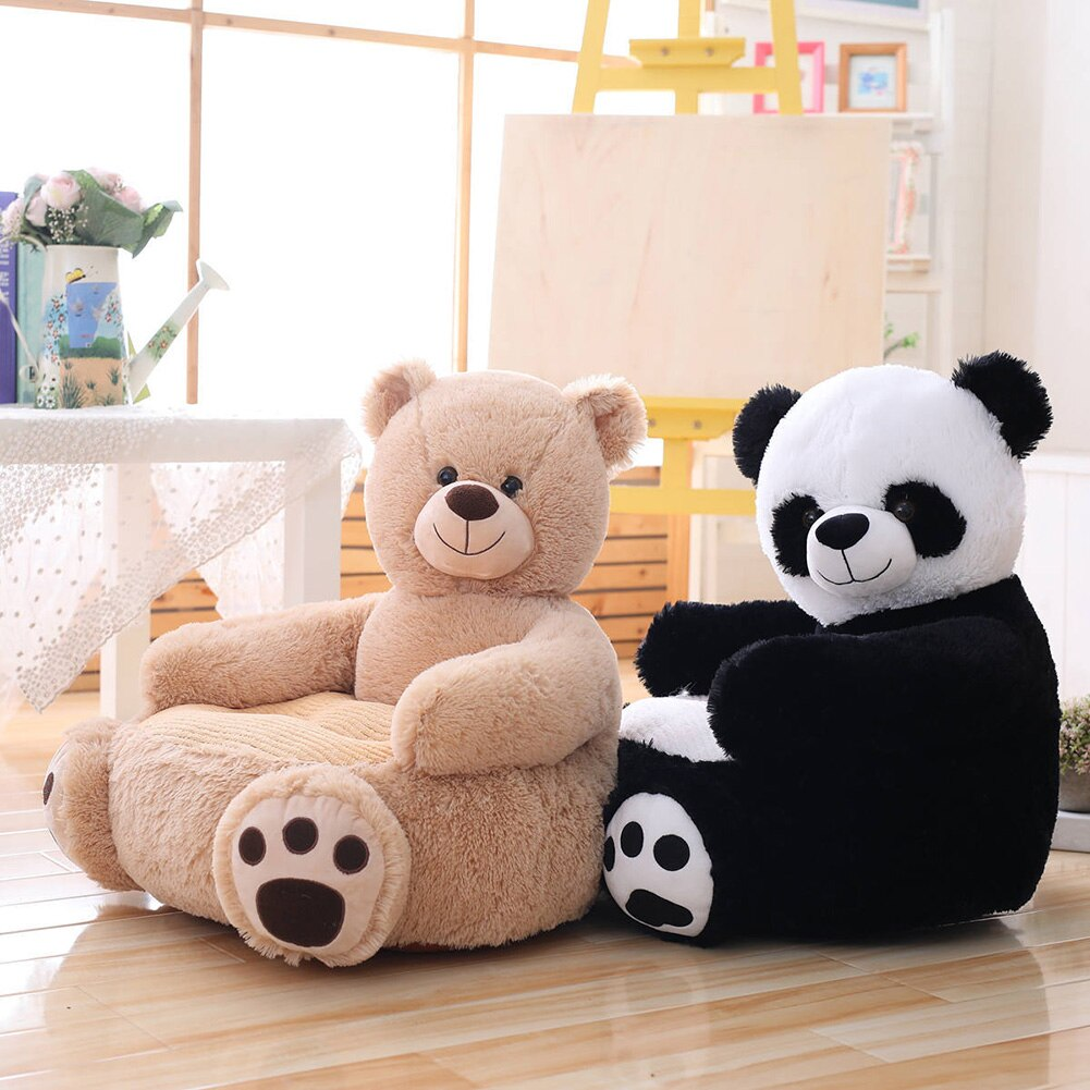 Baby Kids Sofa Only Cover NO Filling Cartoon Animal Bear Seat Children Chair Seat Puff Skin Toddler Children Cover For Sofa Seat