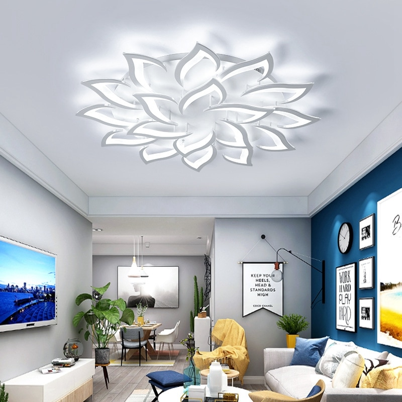 Lámpara LED de techo, lámpara para sala de estar, luces de techo modernas minimalistas, iluminación Led para habitación, lámparas acrílicas para dormitorio