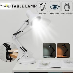 LED Portable Clip Desk Lamp Foldable Dimmable keys Switch USB Desk Lamp Student Reading Eye Protection Desk Light