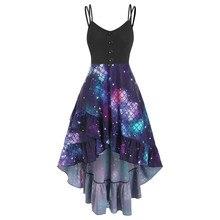 Robe pour femmes nouvelle robe de soirée mode femmes boutons volants tournesol ange échelle impression croix Cami robe dété robe dété femmes