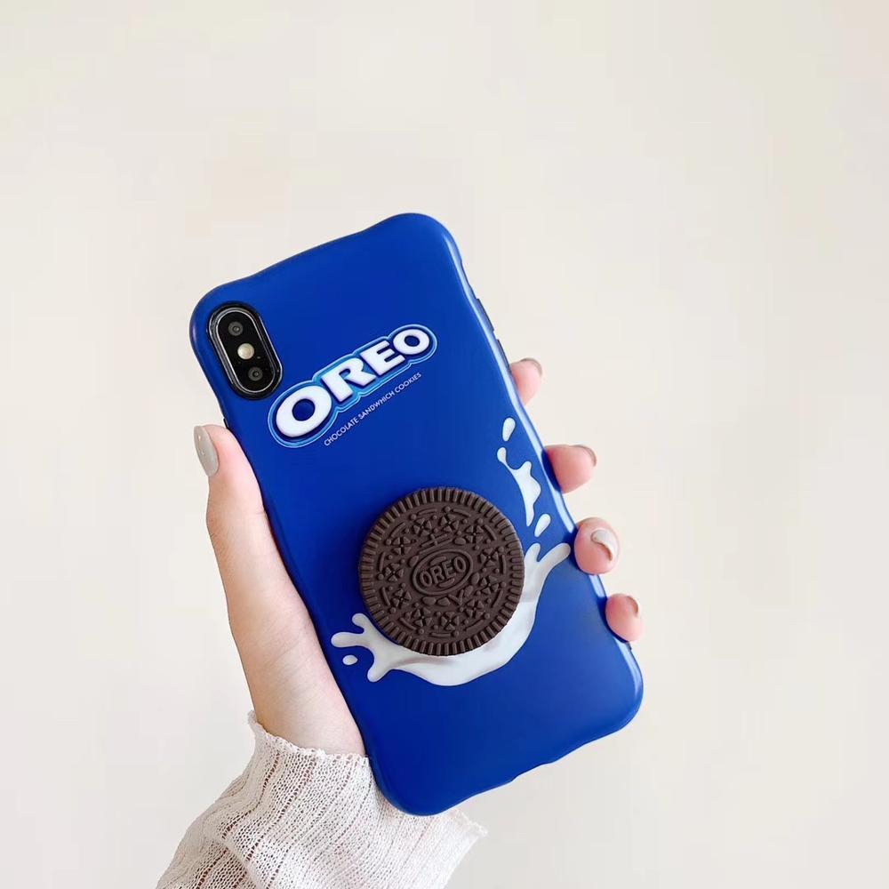Chocolate bonito Biscute 3D galleta suave teléfono caso para iPhone 11Pro Max para iPhone X XR XS Max 6 7 8 Plus funda transparente para teléfono móvil