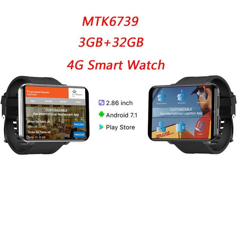 Neueste 4G LTE Smart Uhr Männer Telefon Android 7,1 3GB 32GB 5MP MT6739 2700mAh Bluetooth Modische smartwatch PK AEKU I5 Plus