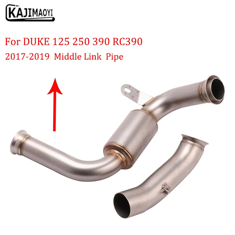 Motorcycle Exhaust  System Escape Modified Connect Middle  Link Pipe 51mm MufflerSlip On For DUKE390 250 200 125  RC390 17-19