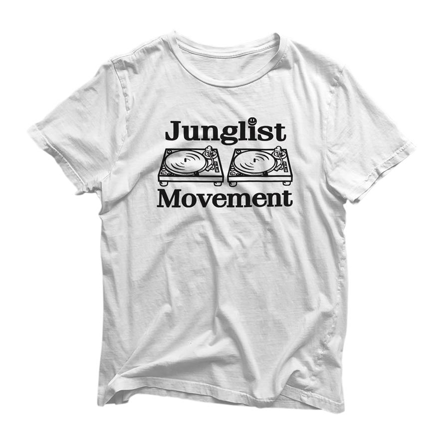 Junglist movimiento camiseta-Tráfico Humano tocadiscos de vinilo Dj Top Tee calidad Superior camiseta