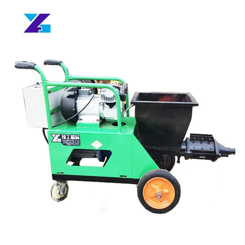 Pequeña máquina eléctrica de pulverización de mortero de cemento de pared bomba de hormigón estructura secundaria columna máquina automática de alimentación