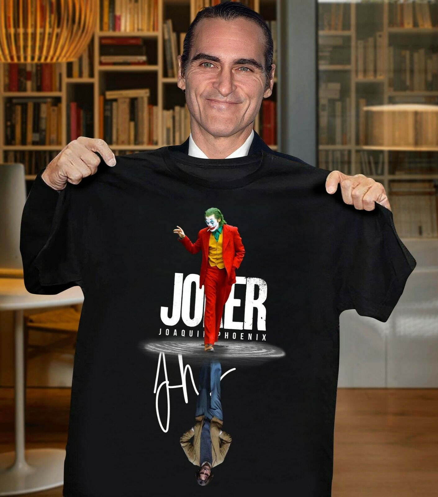 Joker Reflection Joaquin Phoenix T Shirt Signature