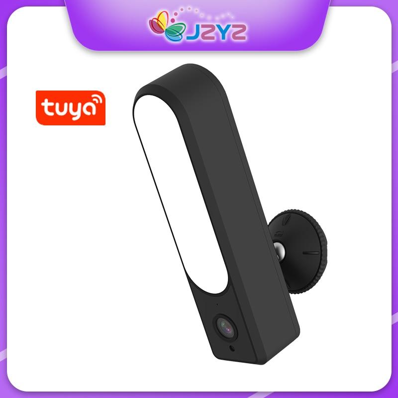 JZYZ تويا فناء الكاشف كاميرا HD 1080P في الهواء الطلق مقاوم للماء واي فاي كاميرا LED مصباح الأمن مراقبة CCTV IP كاميرا