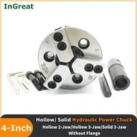4inch 110mm 23jaws hollowsolid hydraulic oil power chuck high speed 4 for cnc lathe boring cutting tool holder hole hydraulic