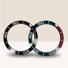 38MM zegarek ceramiczny Bezel wkładka pierścień dla Omega Seamaster seria zegarek Bezel wkładka pierścień anty-zadrapania akcesoria ochronne