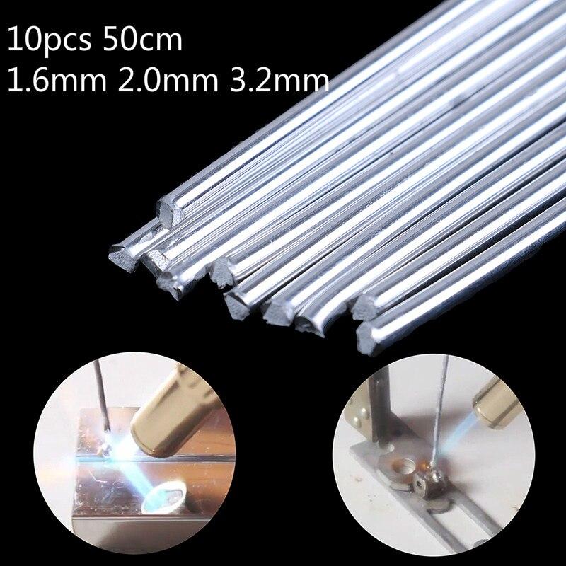 10 Uds. Varilla de soldadura de aluminio de 50cm de baja temperatura...
