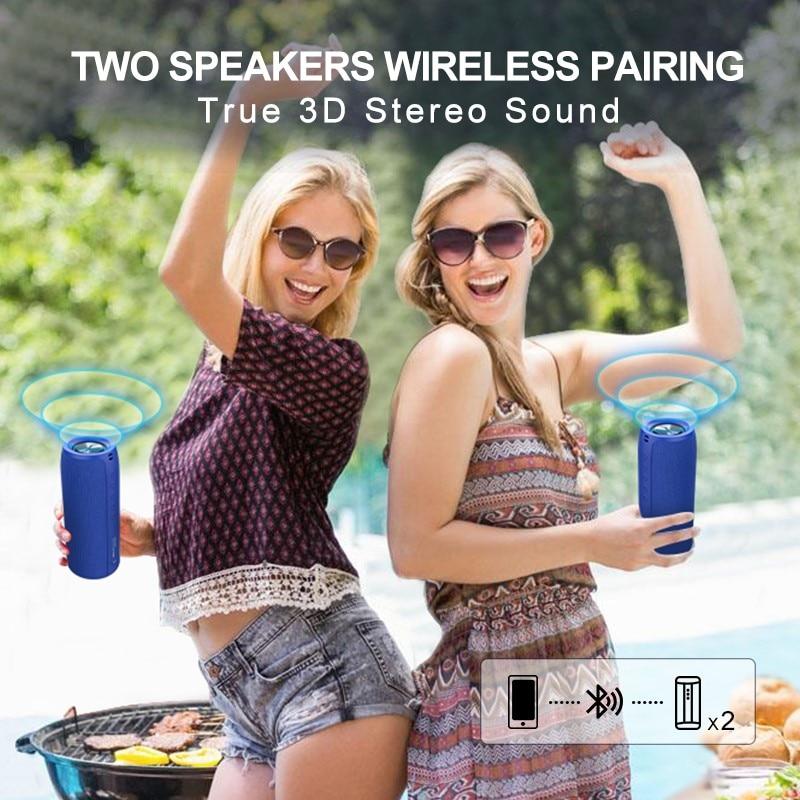 ZEALOT Powerful Bluetooth Speaker Bass Wireless Portable Subwoofer Waterproof Sound Box Support TF, TWS, USB Flash Drive enlarge