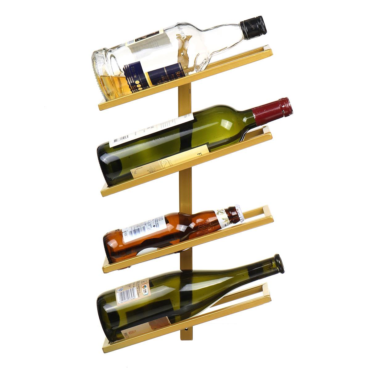 Modern Iron Wine Rack Wall Mounted Wine Holder Home Bar Decor Wine Glass Hanging Holder Storage Organizer Rack Home Decoration