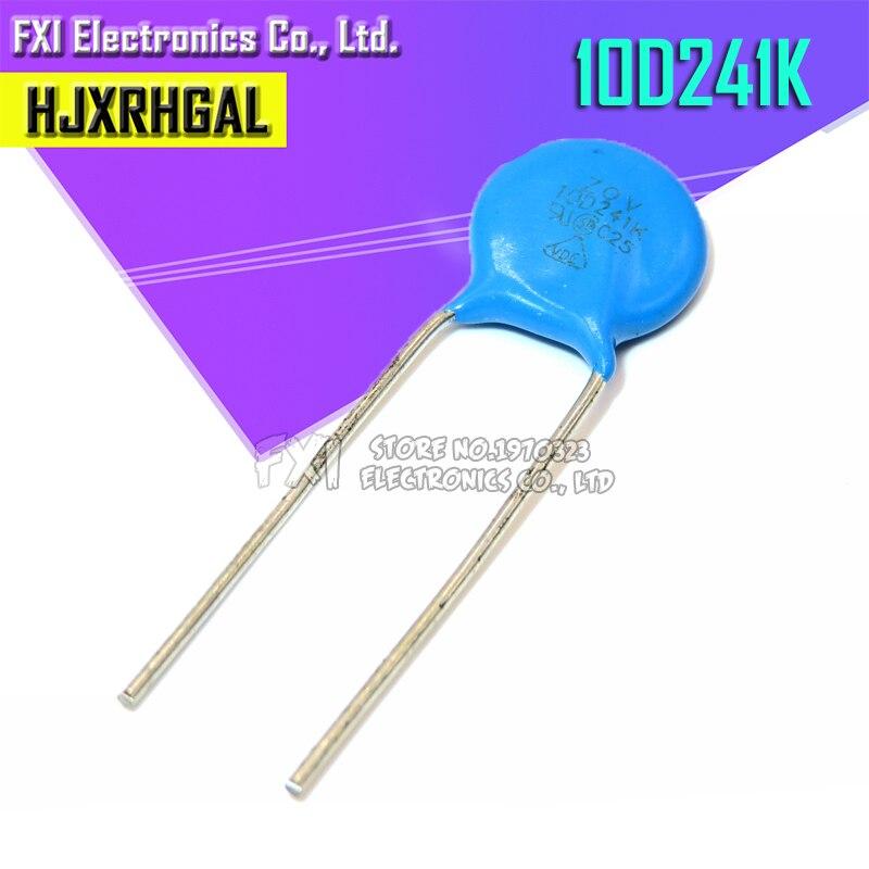10 pces 241 k piezoresistor 10d241k 240 v varistor resistor