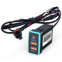 Adaptateur de chargeur Double Port à prise de voiture rapide CHELINK avec tension numérique affichée pour Toyota