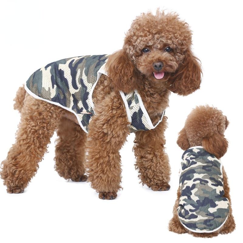 Одежда для домашних животных оптом, детская одежда для щенка, дышащая, летняя сетчатая Одежда для собак