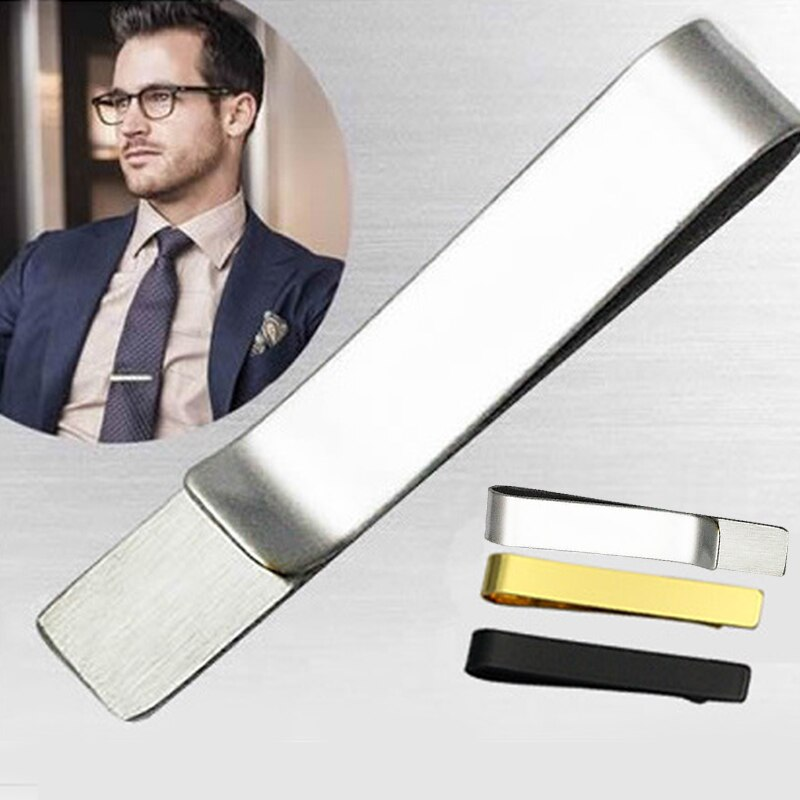 Stainless Steel Tie Clip Black Gold Metal Necktie Tie Men Party Business Simple Necktie Clip Jewelry