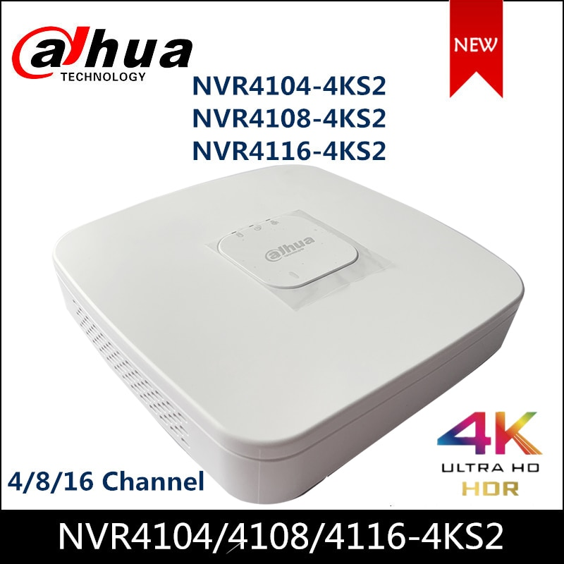 داهوا NVR NVR4104-4KS2 NVR4108-4KS2 NVR4116-4KS2 4/8/16 قناة الذكية 1U 4K و H.265 لايت شبكة مسجل فيديو