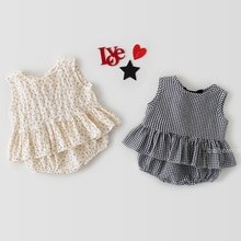 Yg Brand baby suit 2021 summer new triangle bag fart dress baby girl sleeveless vest skirt shorts su