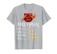 barbecue party bbq beer timer shirt for meat and beer lovers