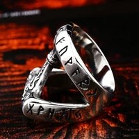 new trendy for men metal ring viking tomahawk letter ring accessories party jewelry