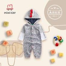 Mincar car children's clothes baby clothes baby romper cartoon cute dinosaur one piece clothes sprin