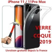 coque for iphone 1211proxxsmax8765 plus silicone vitre verre trempe ecran