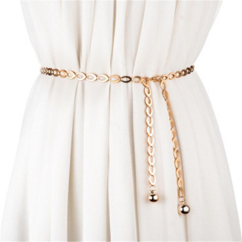 High Waist Gold Silver Belts For Women Fashion Waistbands All-match Belt For Party Jewelry Dress Wai