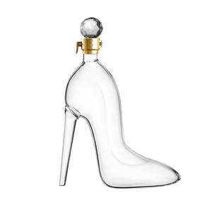 Etched Whiskey Globe Decanter Set,with High Heels Shoes Whisky Gles - for Liquor, Bourbon,Vodka - 350ML