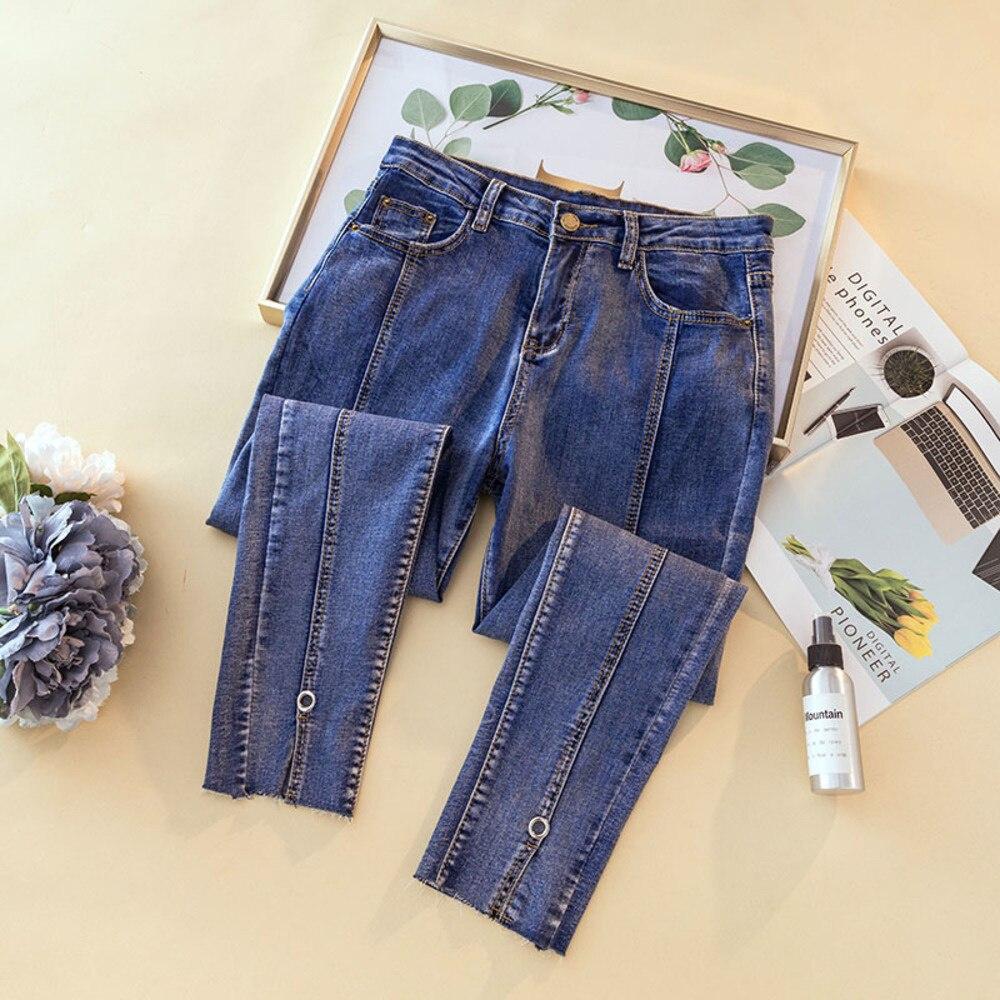 Узкие джинсы для женщин с высокой талией, облегающие Женские пикантные Эластичные Обтягивающие джинсовые брюки-карандаш с эффектом пуш-ап, ...