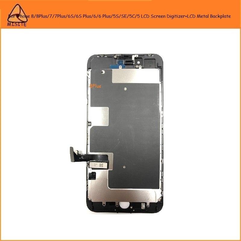 2 uds. Para i Phone 8 7 6s 6 Plus 5S SE 5C 5 8P 7P 6SP 6 P LCD pantalla táctil digitalizador montaje + LCD placa trasera de Metal