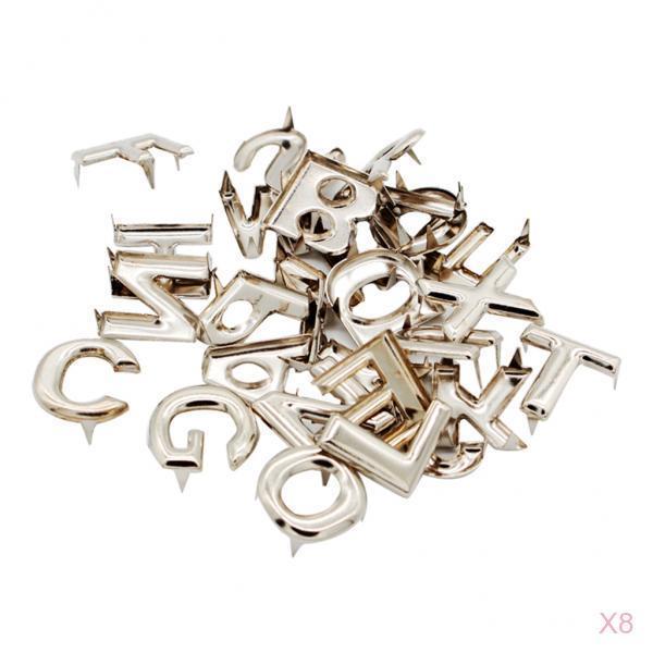 208x English Alphabet Metal Rivets Claw Studs Leathercraft Accessories