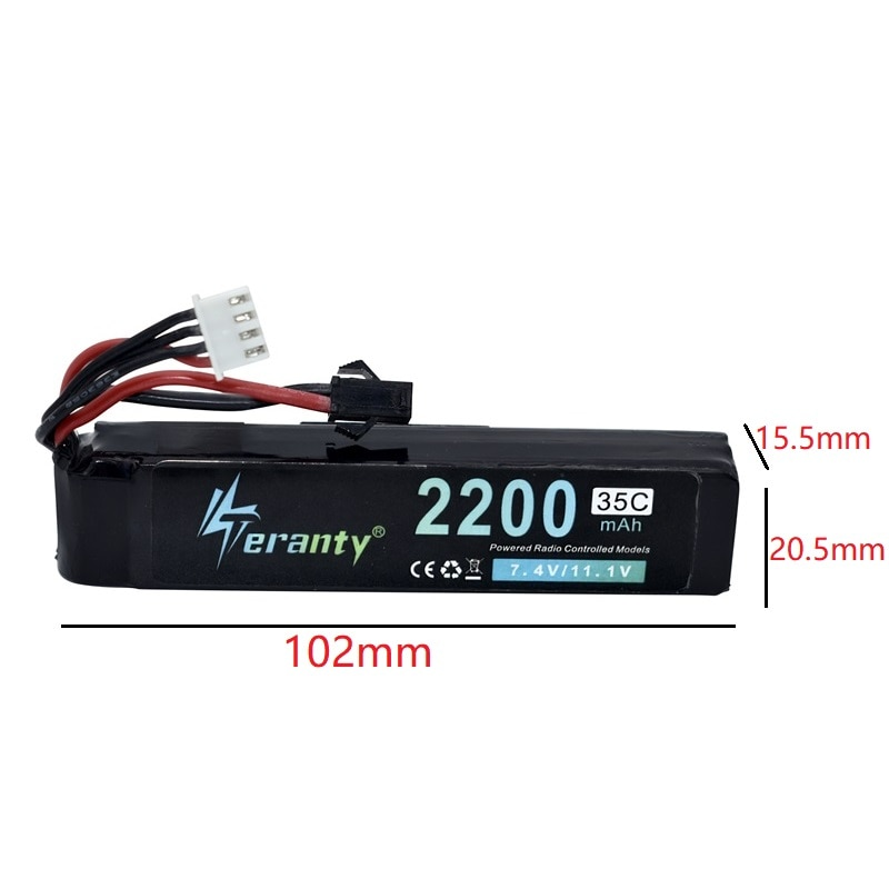 (3-in-1)  1PCS 3S Water Gun Lipo Battery 11.1V 2200mAh 35C 452096 For Mini Airsoft BB Air Pistol Electric Toys RC Parts 102mm enlarge