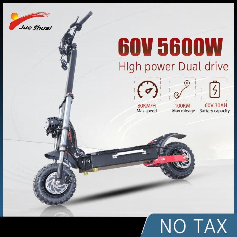 Patinete eléctrico todoterreno potente de 11 pulgadas, Scooter plegable, motorizado, para adulto
