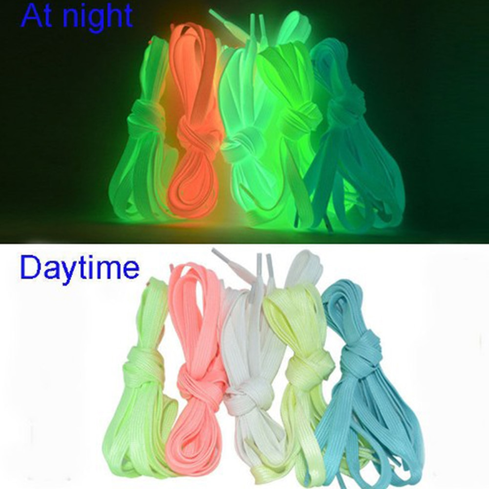 AliExpress - 1 pair Sport Luminous Shoelace Glow In The Dark Night Color Fluorescent Shoelace Athletic Sport Flat Shoe Laces Hot Selling